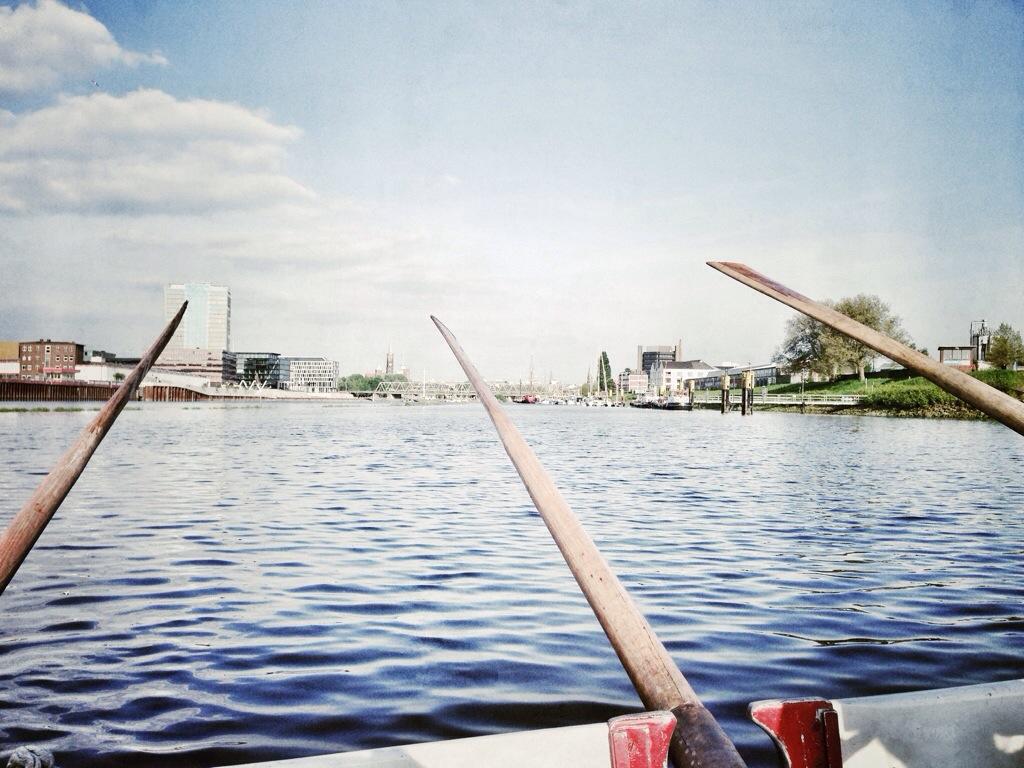 Kuttersicht auf Bremen