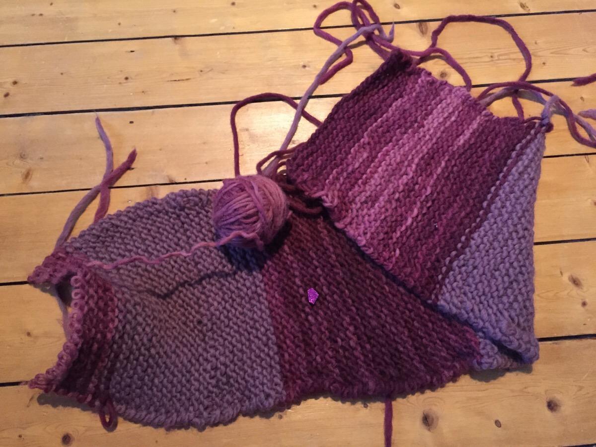 Schal aus Filzwolle