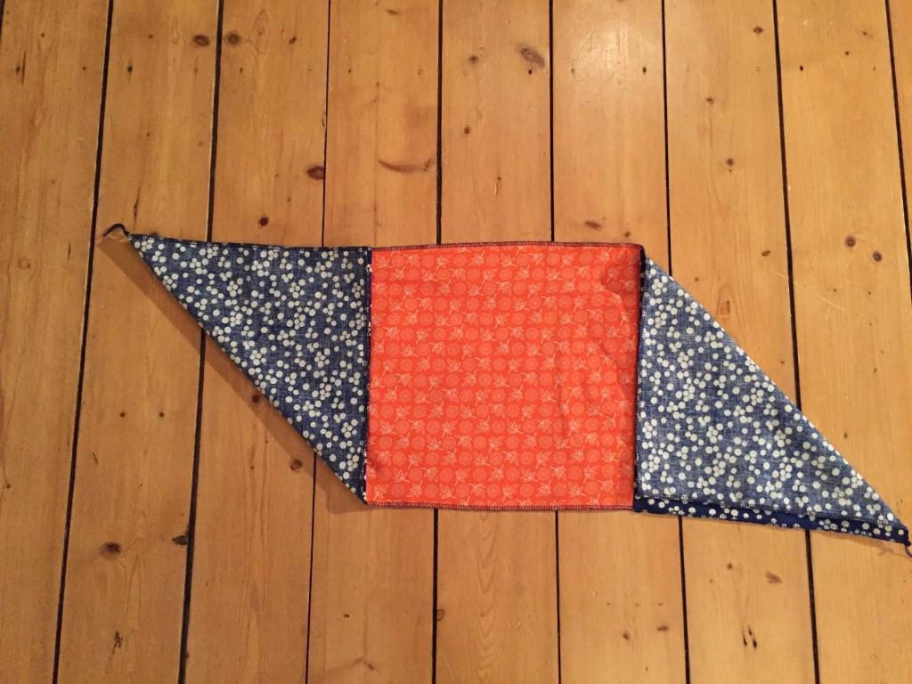 Origami Bag aus drei Stoffquadraten