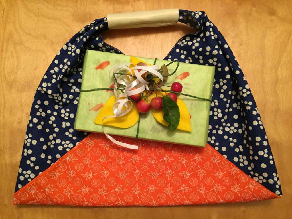 Origamibag mit Hachez Braunen Blättern