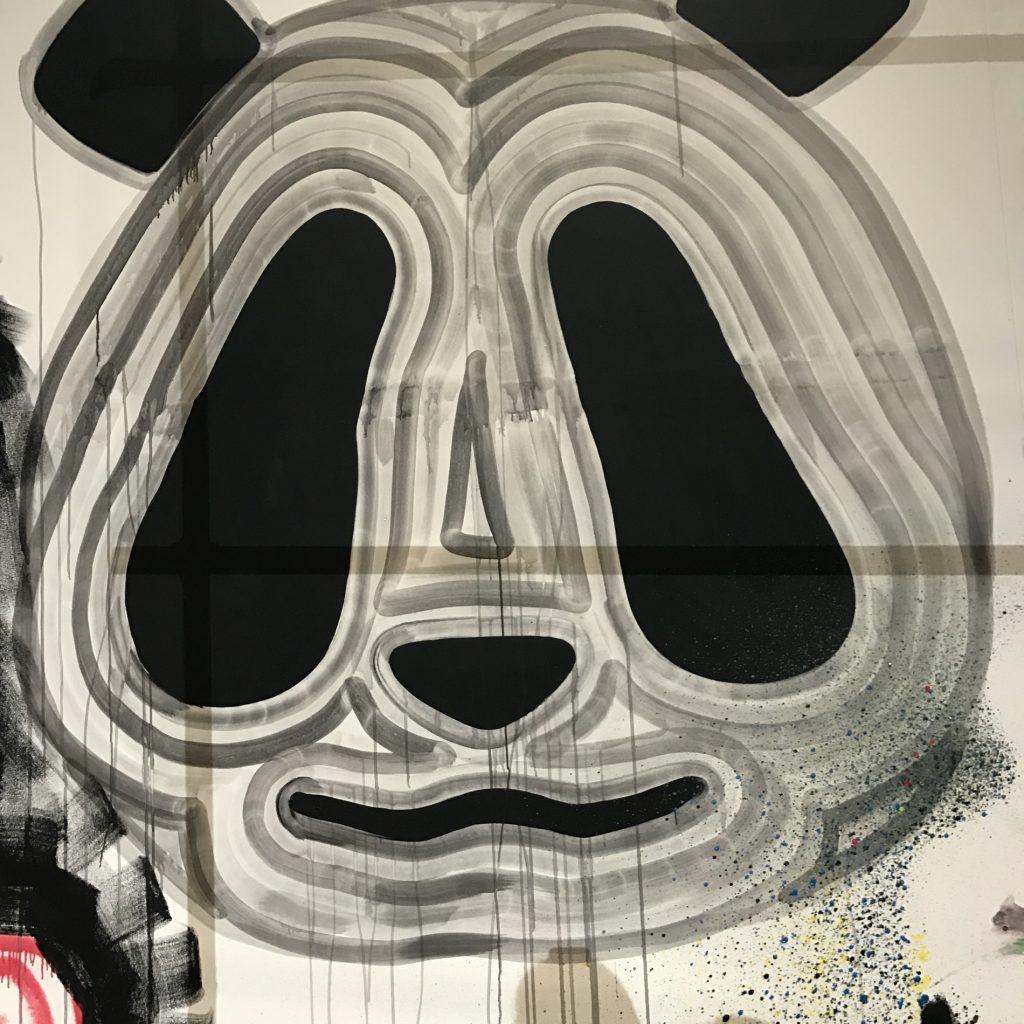 Pandazeichnung Polaroids
